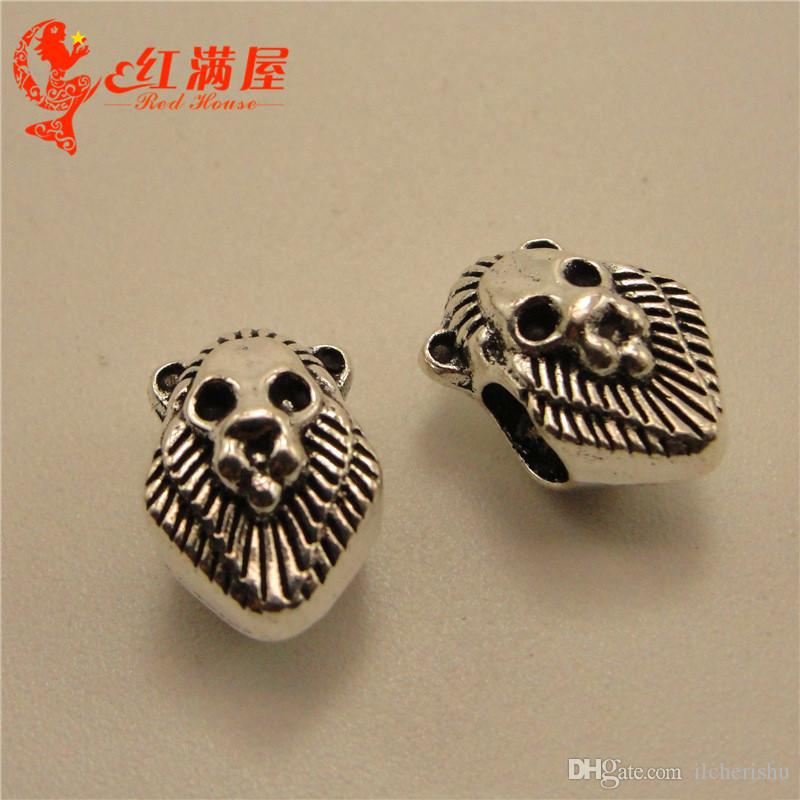 100pcs Year 2019 Charms Tibetan Silver Bead DIY Jewelry Bracelet Pendant
