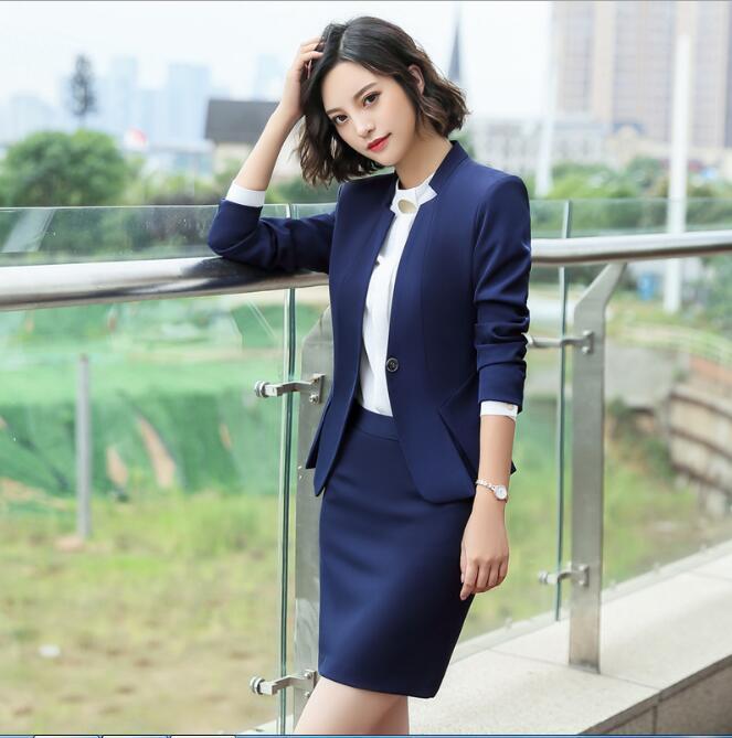 2019 Art und Weise dünne Jacken Frauen geteilt lange Ärmel Blazer Elegante Outwear zweiteilige Hosenanzug Business Office Arbeitskleidung
