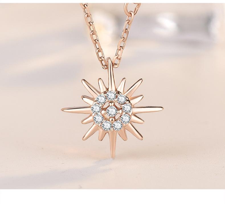 Nouveau Argent 925 Soleil et la Lune étoile Colliers chaîne Paire de Celestial Meilleurs amis pour le cadeau Amis Sautoirs Pendentifs Hommes Femmes