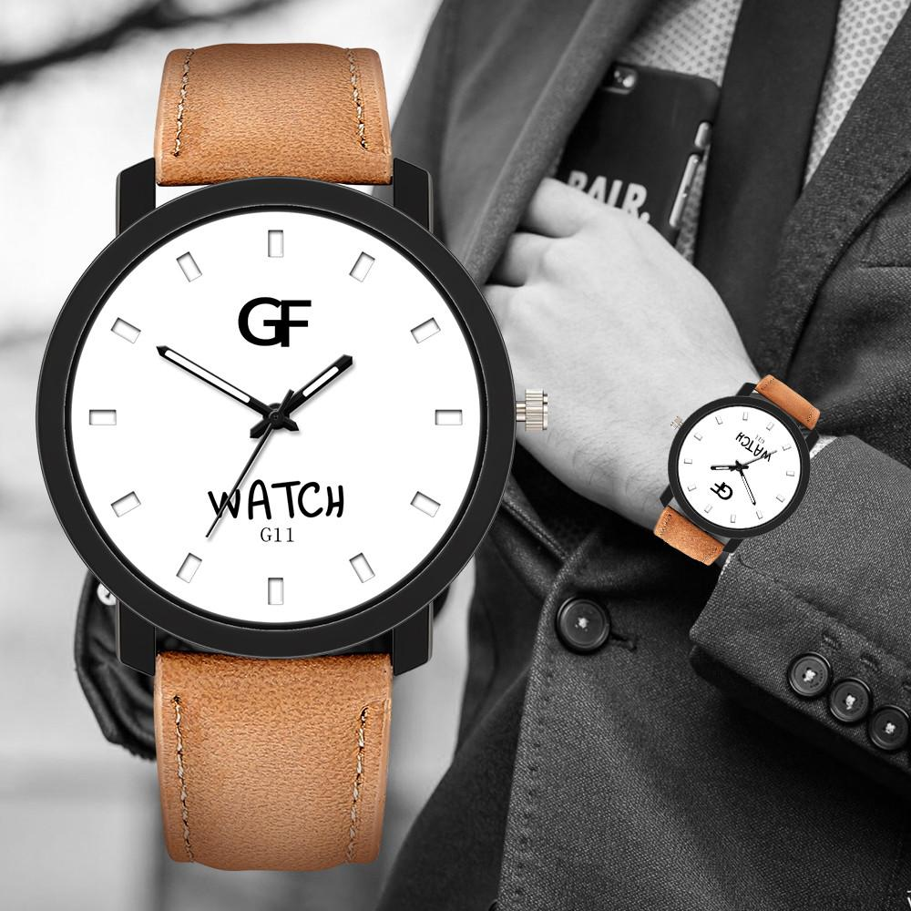 2019 Luxe Montres Hommes cuir du bracelet montre erkek kol Saati Quartz Montres-bracelets Nouveau pointeur Glow homme d'affaires montre
