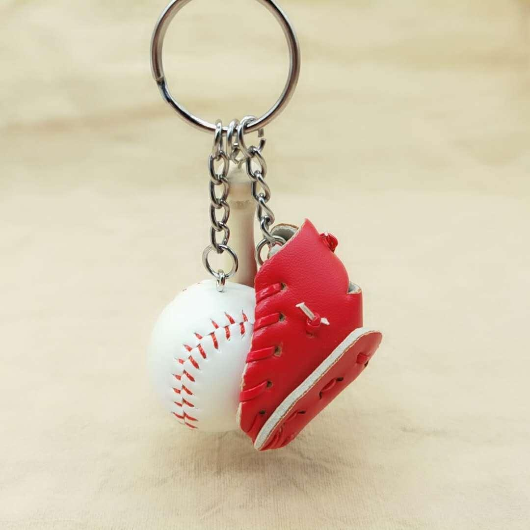 KEY HOLDER sac porte-clés Porte-clés Keychains Softball Baseball Charme Pendentif