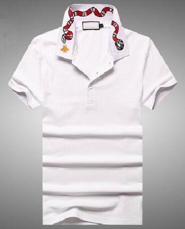 Camicie casual da uomo Snake Bee Ricamo per uomo d'affari Camicia a maniche corte in cotone a maniche corte Top classici Polo M-3XL.