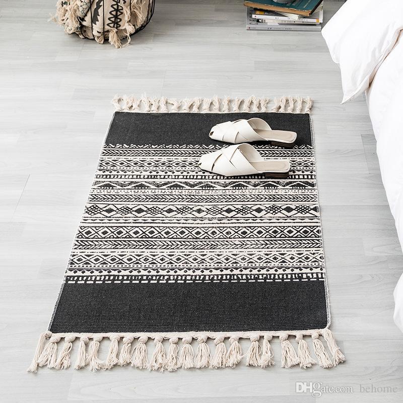 Carpet India Color Vintage Ethnic Style Square Carpet Bedroom