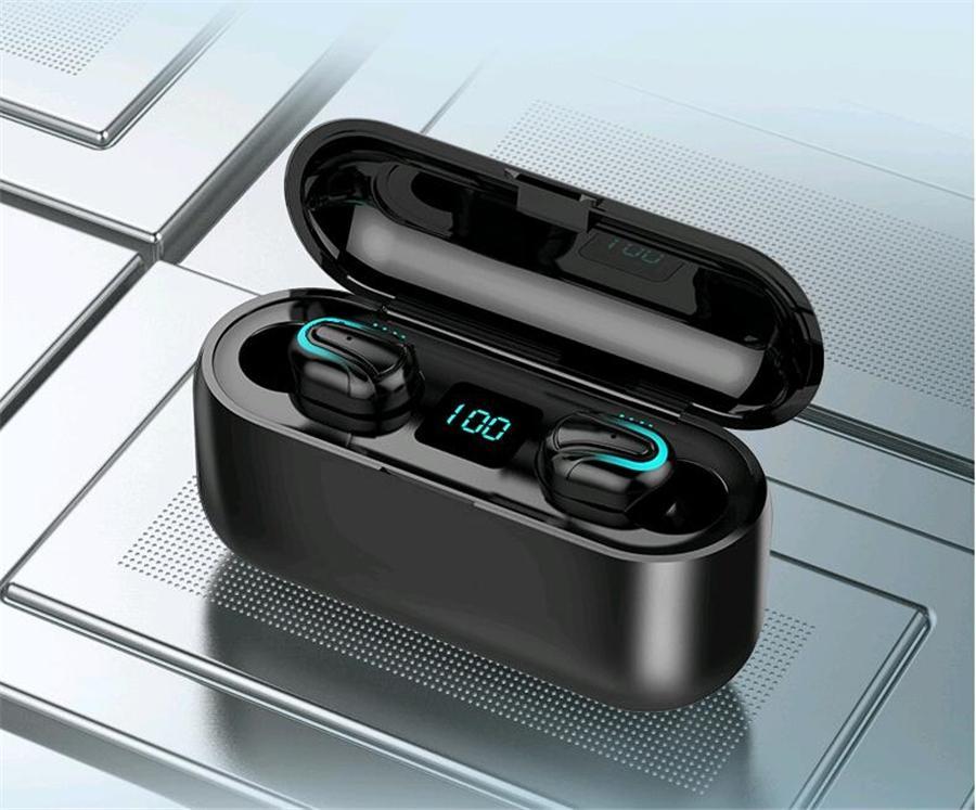 سماعات الأذن اللاسلكية التوائم D011 بلوتوث 5.0 سماعات BLUETRUM سماعات ستيريو سماعة مع شاحن المغناطيسي حالة صندوق لمدة 8 XS # OU911