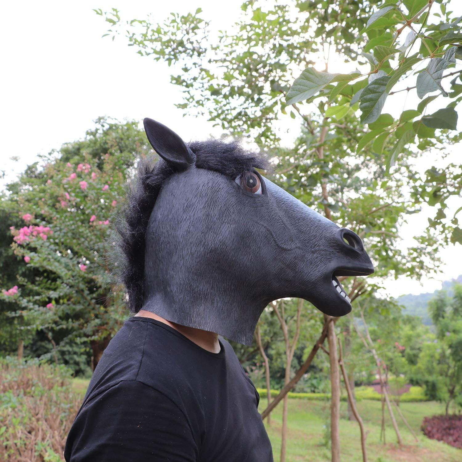 Halloween Decorations Horse Mask Cosplay Animal Head Latex Black Horse Mask Costume Suitable For Men And Women Cheap Masquerade Dresses And Masks Cheap Masquerade Mask From Funbuy20 8 05 Dhgate Com