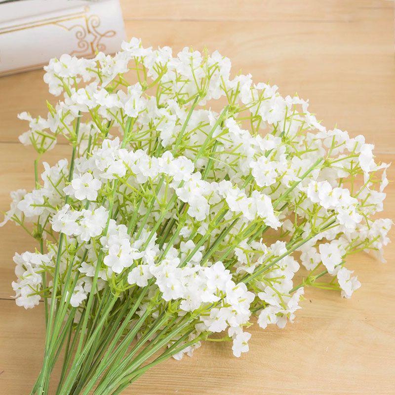 Yapay Çiçekler 2 çatallı yıldız Gypsophila Sahte Ipek Çiçek Bitki Ev Düğün Dekorasyon Malzemeleri Ipek çiçek DHL WX9-1460