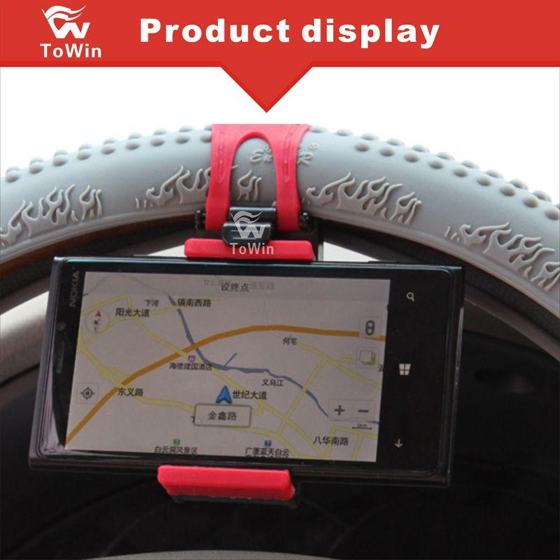 Universal GPS Teléfono Celular Soporte Retráctil Elástico de Goma Soporte para Teléfono Inteligente Soporte de Soporte Soporte de Coche Cubierta Del Volante Del Coche Cuna