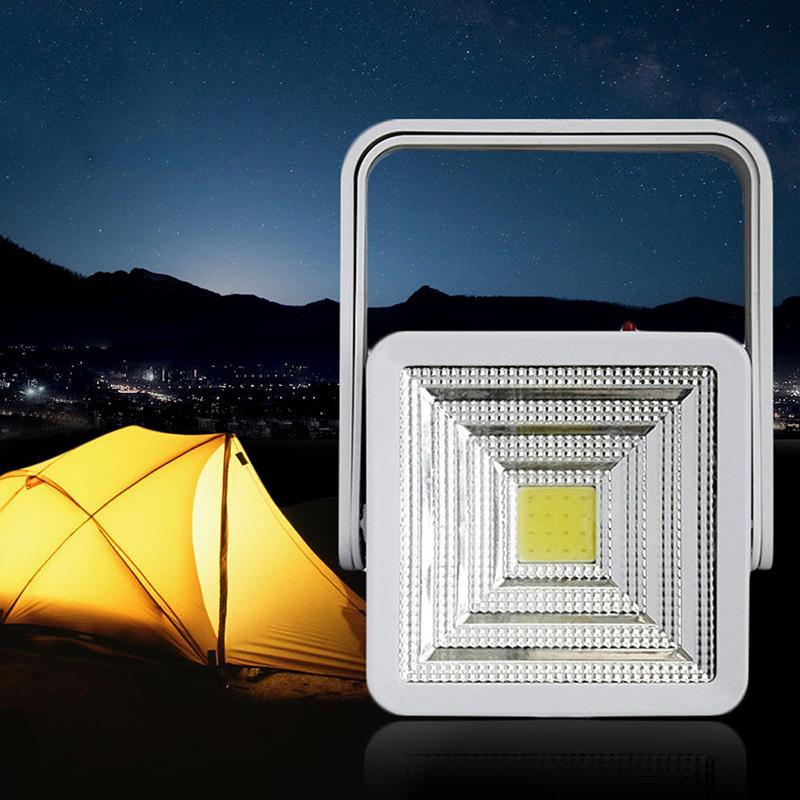 Солнечная Энергия Led Портативный Светильник Открытый Кемпинг Свет Фонарь Аккумуляторная Рыбалка Пешие Прогулки Лампы Прожектор Аварийные Огни