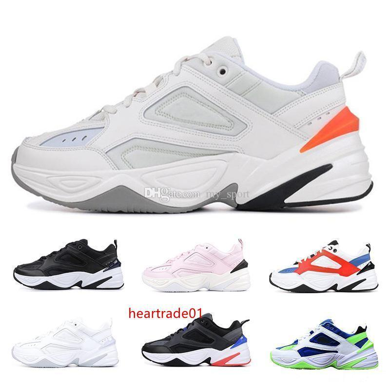 2019 Eski M2K Tekno Yeni Baba Erkek Kadın Moda Klasik Üç Siyah Beyaz Gri Spor Tasarımcı Zapatillas Sneaker Açık Ayakkabı Koşu Ayakkabıları