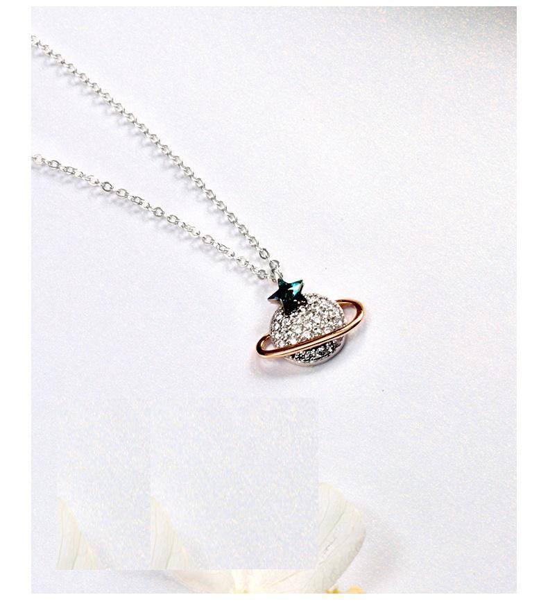 presentes de aniversário da namorada do presente dos amantes colar de prata S925 colares prata esterlina das mulheres com jóias de prata penbdant