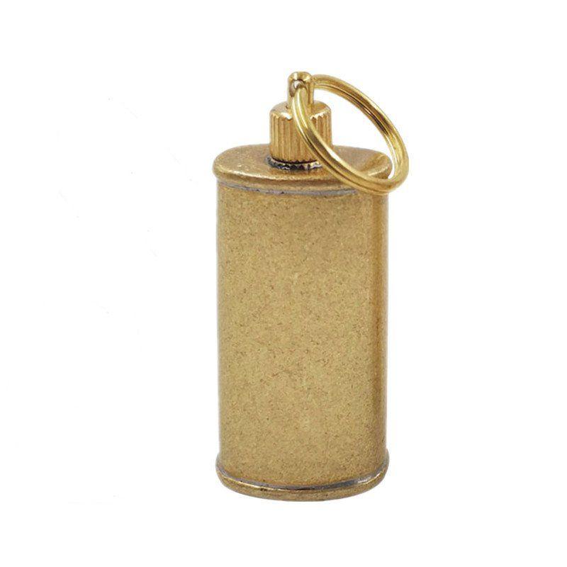 1pcs 11ml Mini Copper Portable Kérosène Lighter huile Carry Pot de carburant extérieur Outils Canister EDC