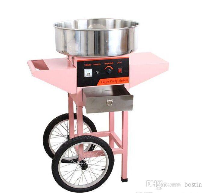 Kommerzielle elektrische Zuckerwatte-Maschine mit Warenkorb-Zuckerwatte-Hersteller-Maschinen-Kindersnack-Nahrungsmittelmaschine