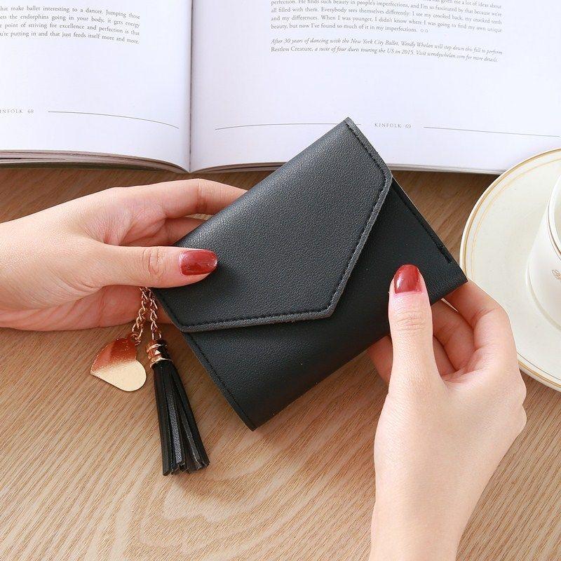 Yeni kadın Sikke çanta Kız Kampüs Tarzı Kısa Paragraf Moda Kolye Lychee Mini Cüzdan Kart Paketi Sikke çanta
