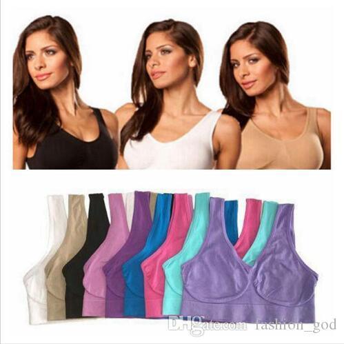 آه حمالات الصدر النساء اليوغا الرياضة حمالات الصدر اللياقة سلس البلوز الصدرية شكل الجسم ستوكات الجري الصدرية مثير رياضة برأس الأزياء سترة داخلية B5978