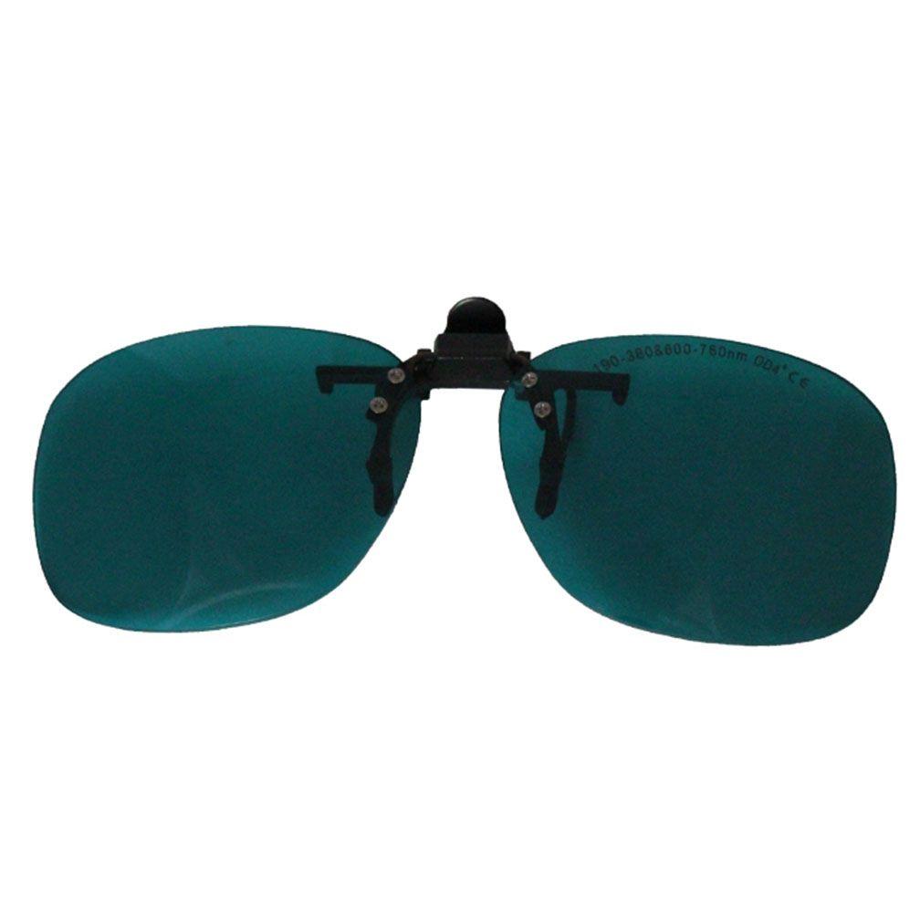 نظارات كليب حماية السلامة ، حملق واقية من الليزر ، 190-380nm600-760nm امتصاص مستمر لضبط المسار البصري ، وشم Remova