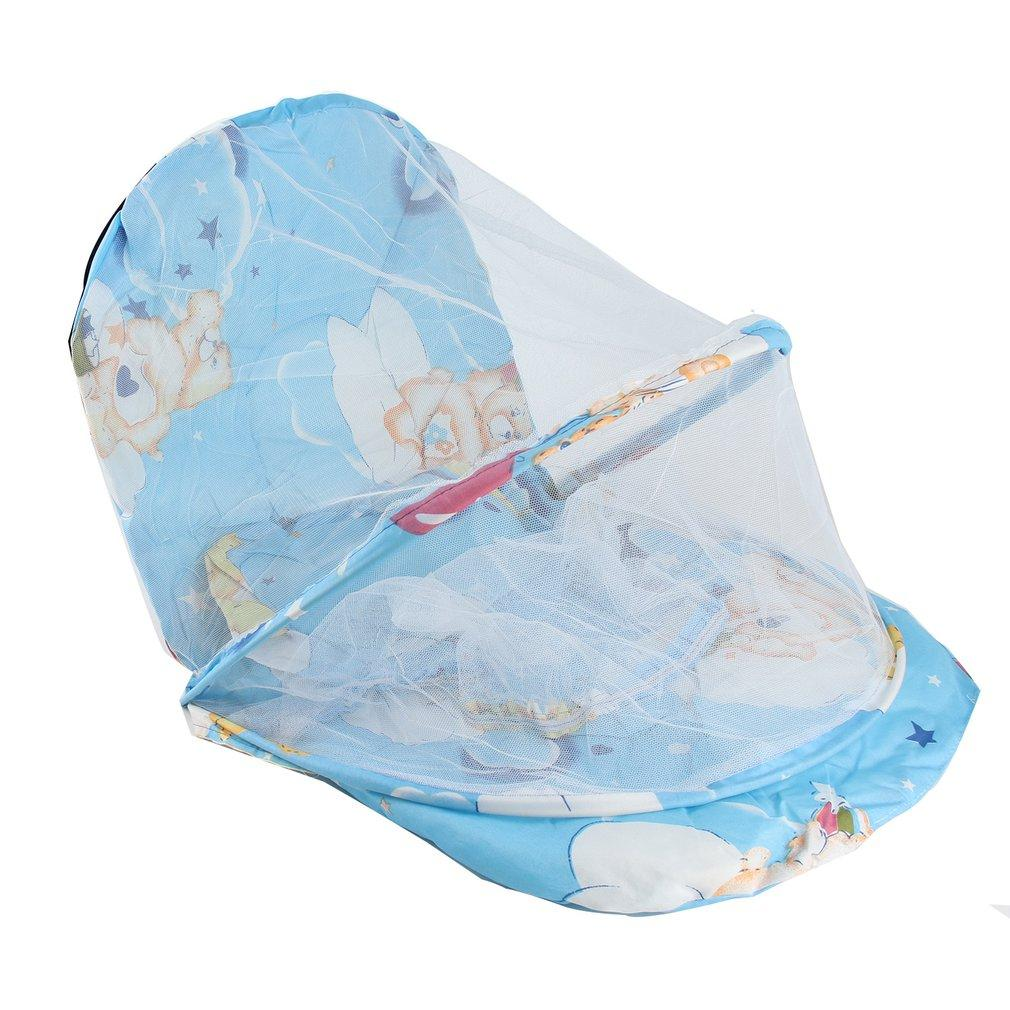 Foldable New Baby Cotton Padded Mattress Infant Pillow Bed Mosquito Net Tent Stand Kids Baby Bed Accessories Hung Dome Floor