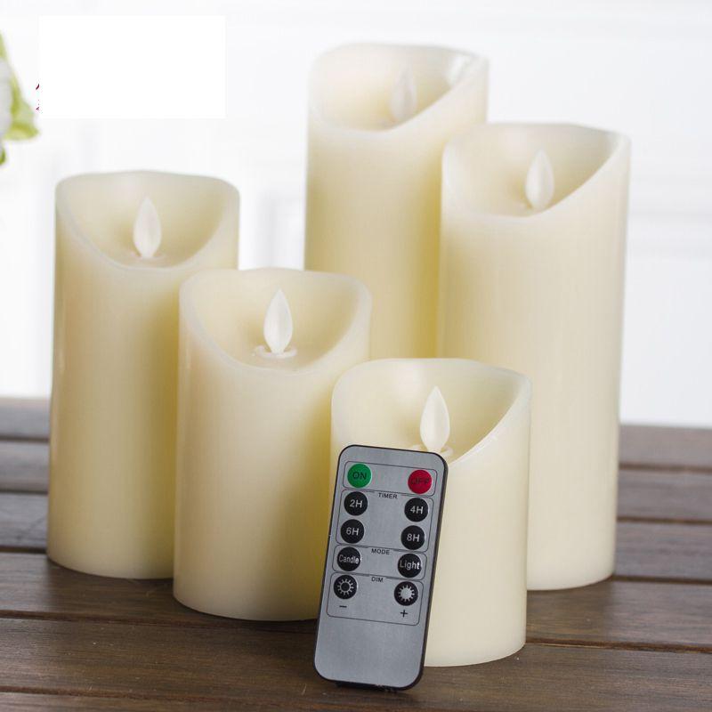 ALEYMAX Paraffine Bougie LED LED bougie à distance avec Flicking Flamme Flamme Simulation pour soirée de mariage Décoration T200601