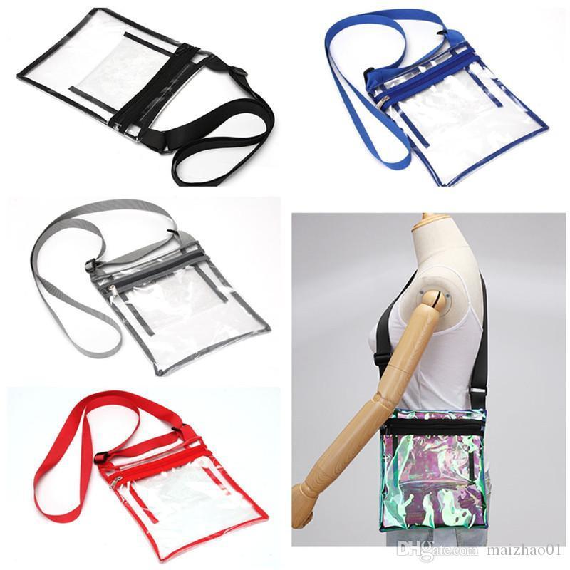 Прозрачный лазерный плечевой ремень сумка ТПУ Zipper Crossbody Сумки Holgraphic Laser сумка для путешествий Бич Messager сумка сумка телефон сумка 2019