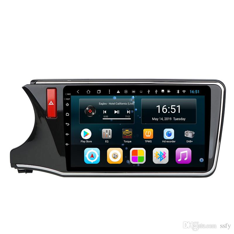 Android 10.1inch 8-core for Honda city greiz gienia 2015-2018 Car mp3 mp4 music player WIFI precise GPS Navigation Head Unit