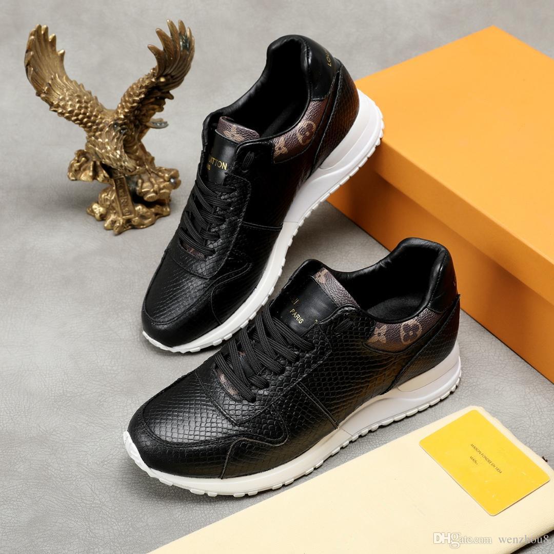 NEUE 19ss Luxury Mens Designer Schuhe Run Away Sneakers Monogram Canvas-Besatz für Herren Schuhe Designer Sneaker Dolce