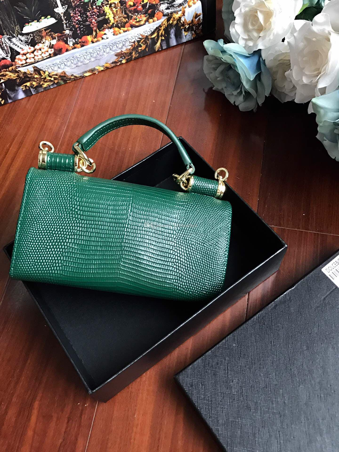 2019 NEW classic series Lizard Flower Phone Lady Evening Interlayer Clamp zipper Genuine Leather Solid Simple fashion Mini bag Candy colour