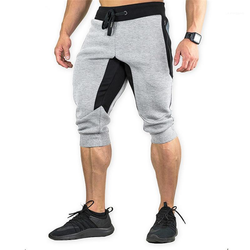 Verão Ativo Estilo Shorts Mens Shorts Moda Painéis Descontraído Capris Pencil Pants Casual cordão Baixa Shorts