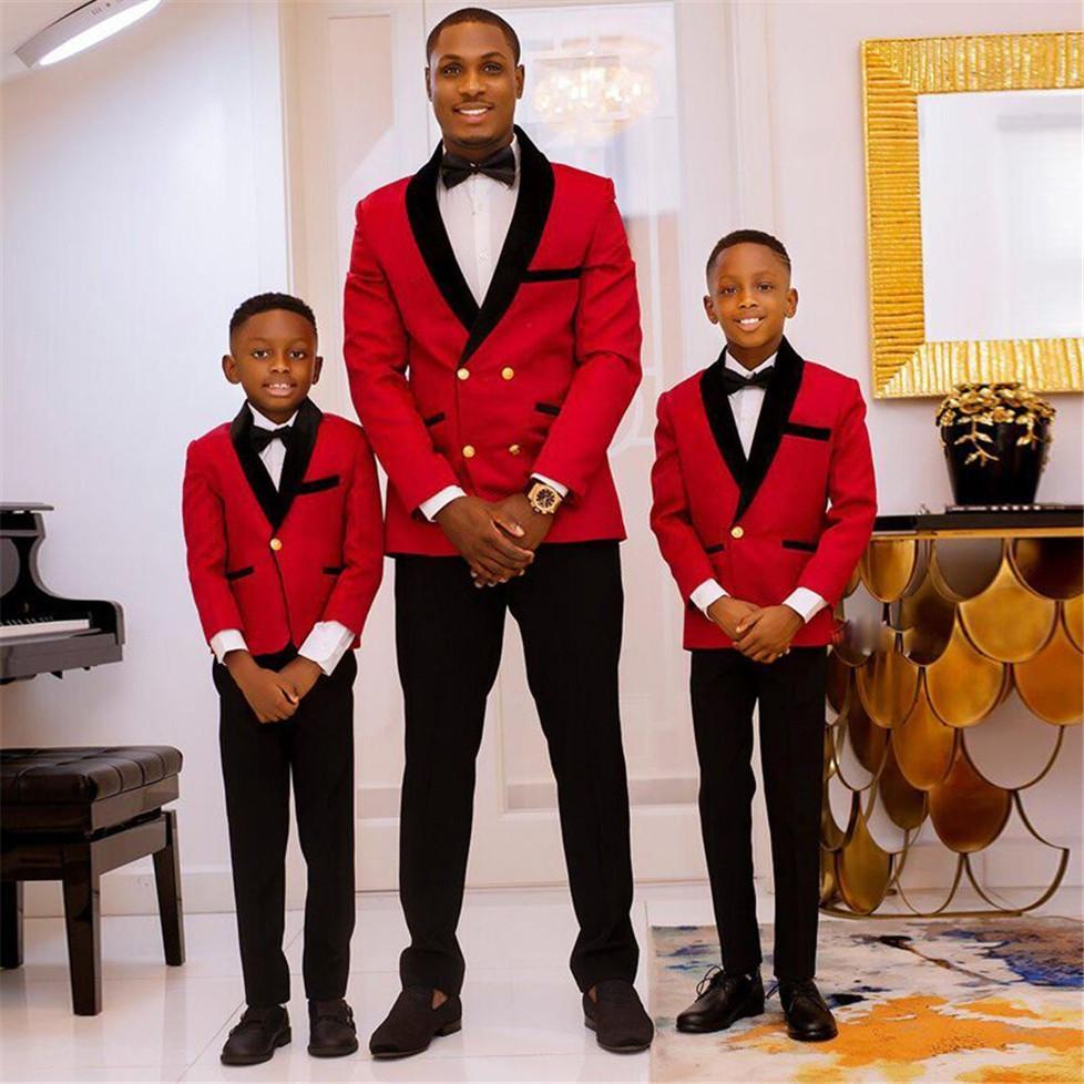Abotoamento Groomsmen xaile preto lapela do noivo smoking Homens ternos de casamento / Prom / Jantar melhor homem Blazer (jaqueta + calça + gravata) K326