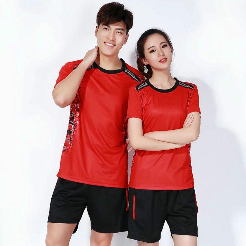 Short Sleeve Volleyball Suits,Mens and women Team Training Uniforms Table Tennis Shirt Jerseys Sportswear,Badminton Shirt Shorts