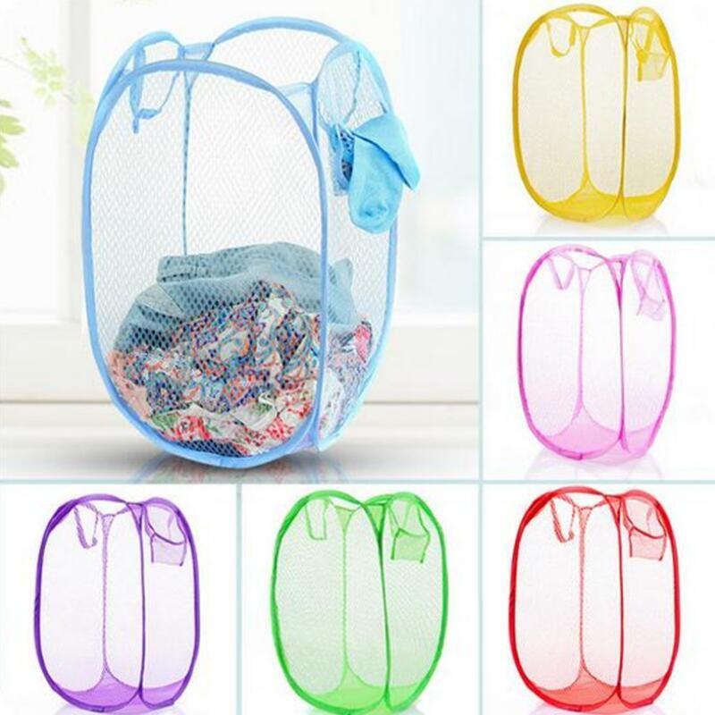 طوي شبكة الغسيل سلة الملابس لوازم التخزين يطفو على السطح الغسيل الغسيل سلة الغسيل بن تعرقل شبكة تخزين حقيبة