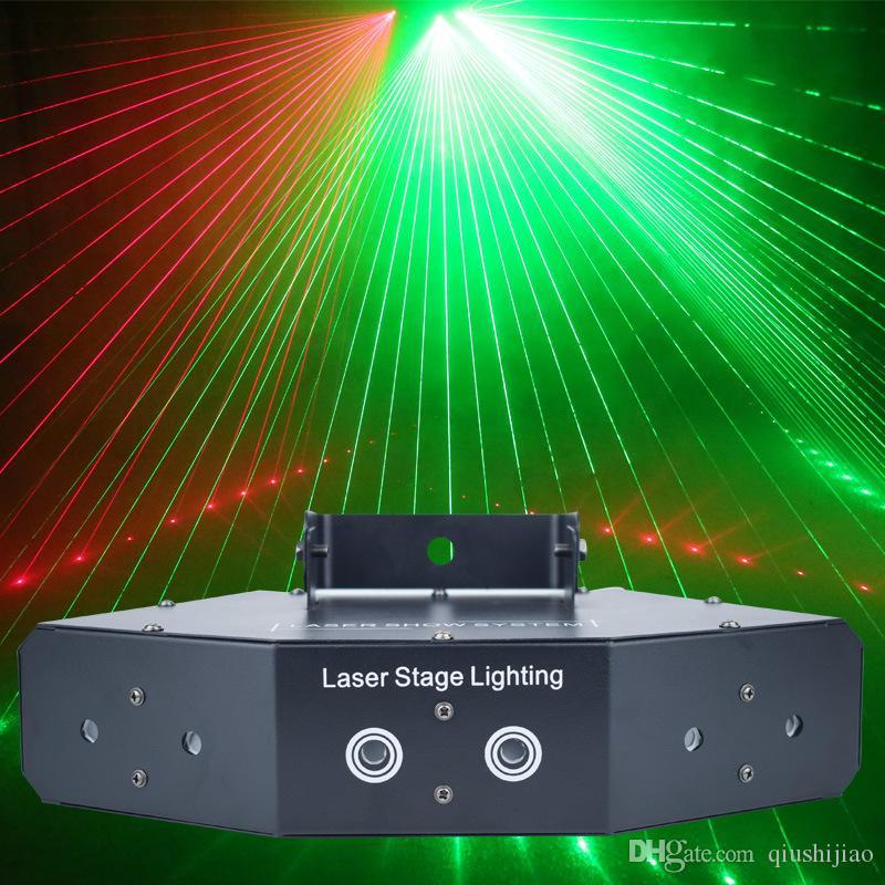 RGB 6 Lens Scan Laser Light/Linear Beam Effect Scanning Laser Light/Professional Laser Show System Projector/Beam Stage Lighting