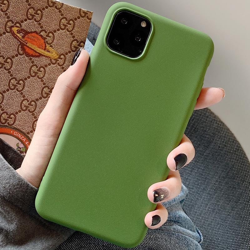 oliva sólida maçã 11promax verde all inclusive prova queda de 7 / 8plus caso do iPhone XS casca mole