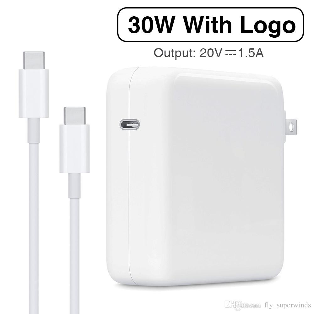30W USB-C-Energien-Adapter-Typ-C PD Fast Charger A1882 Für Ersatz für die neueste MacBook Pro 12-Zoll-A1534 1540 1646