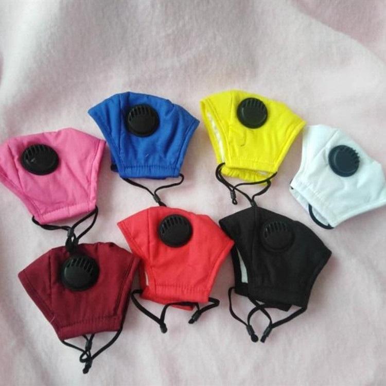 новый Детский рот маски Защитные маски хлопка с детьми Сапун Valve Face Mask Washable без фильтра Дизайнер Маски T2I51117