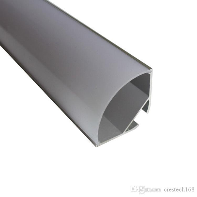 3.3ft / 1meter V Form breiter verschobener geführter Aluminiumprofilkanal für zweireihigen geführten Streifen, Milchabdeckung für 20mm PWB mit Befestigungen