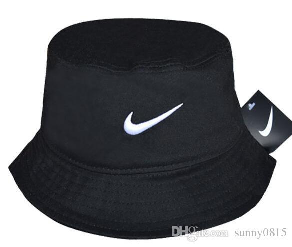Al por mayor-2019 Venta caliente de moda Camping Senderismo Caza Pesca al aire libre Bob algodón liso en blanco Negro Bucket Hat Cap Hip Hop Hombres Mujeres hueso