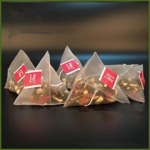 500 шт. / лот чай фильтр сумки нейлон с этикеткой пустые одноразовые пакетики чая Infuser ситечко мешок ясно мешок хранения 5.8*7 см FFA1445