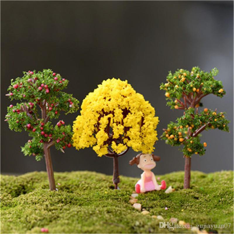 XBJ021 New'in yosunu mikro peyzaj süs 1pcs ağaç süsleri yaratıcı peyzaj kiraz ağacı elma ağacı dekore