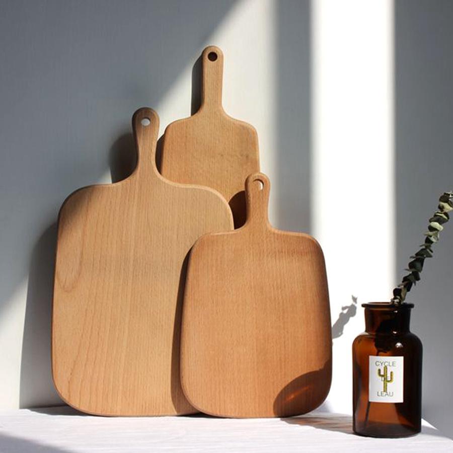 Wooden Cutting Boards Fashion Fruit Plate Whole Wood Chopping Blocks Beech Baking Bread Board Tool No Cracking Deformation TTA2023-1