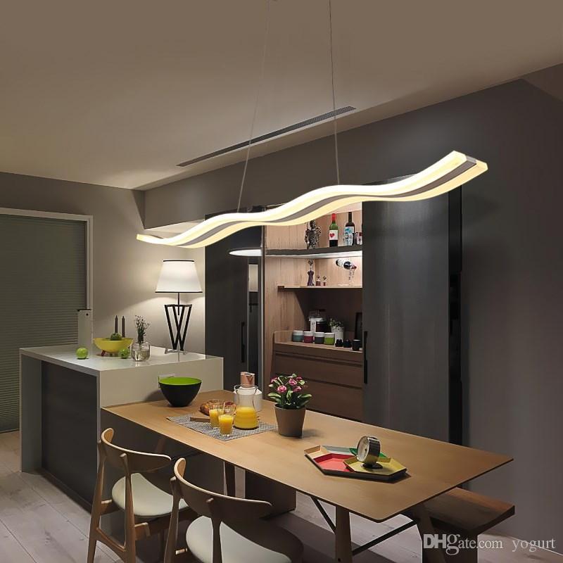 Acheter Lustre Moderne Led Eclairage Salle A Manger Cuisine Ilot
