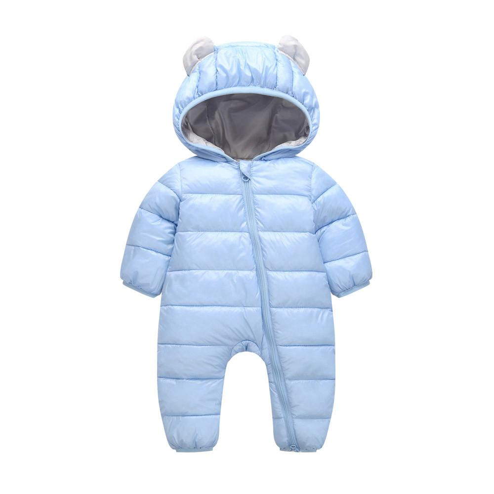 Arloneet Baby Romper Plush And Velvet Warm Autumn And Winter Boys Girls Rompers Thick Cotton Warm Clothes Jumpsuit L1108 MX190801