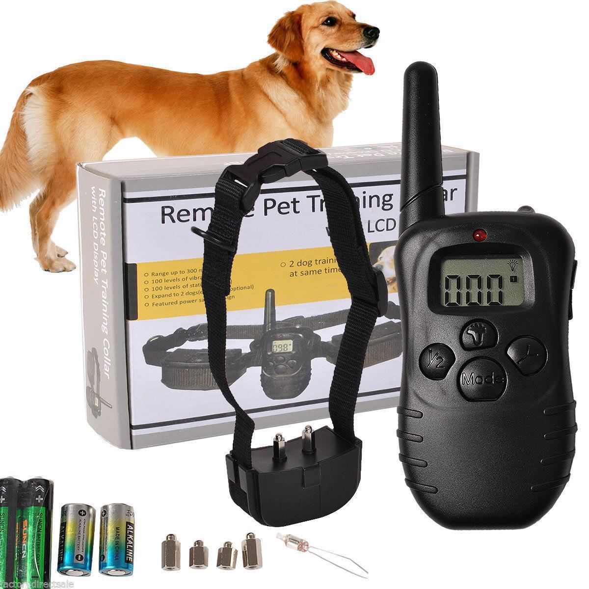 제어 LCD 훈련을 짖는 장치 제조업체, 도매 애완 동물 용품 원격 제어 껍질 정류장 짖는 정지 정지 개 훈련을 행사