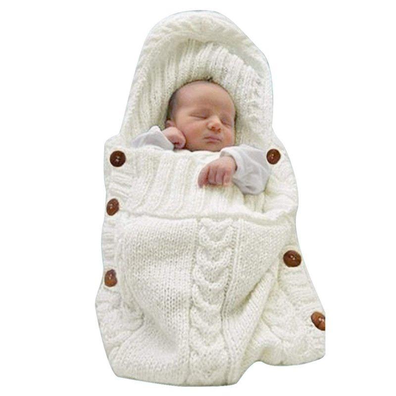 Newborn Baby Wrap Swaddle Blanket Knit Sleeping Bag Sleep Sack Stroller Wrap for Baby