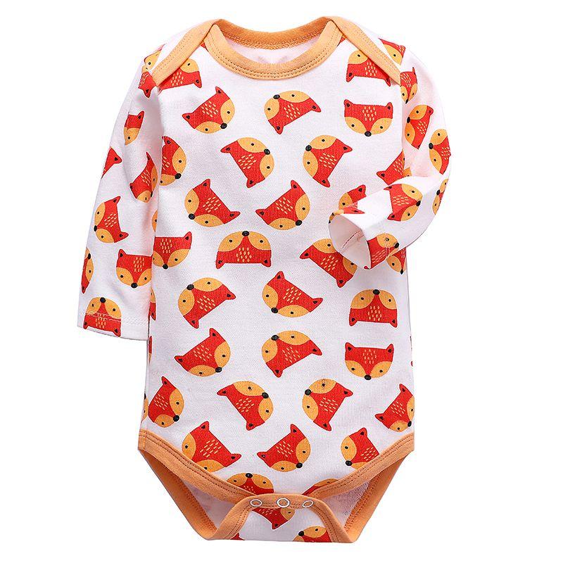 Младенцы Одежда для девочек Боди Новорожденный Мальчики с длинным рукавом Тело 100% хлопок 3 6 9 12 18 24 месяца Одежда