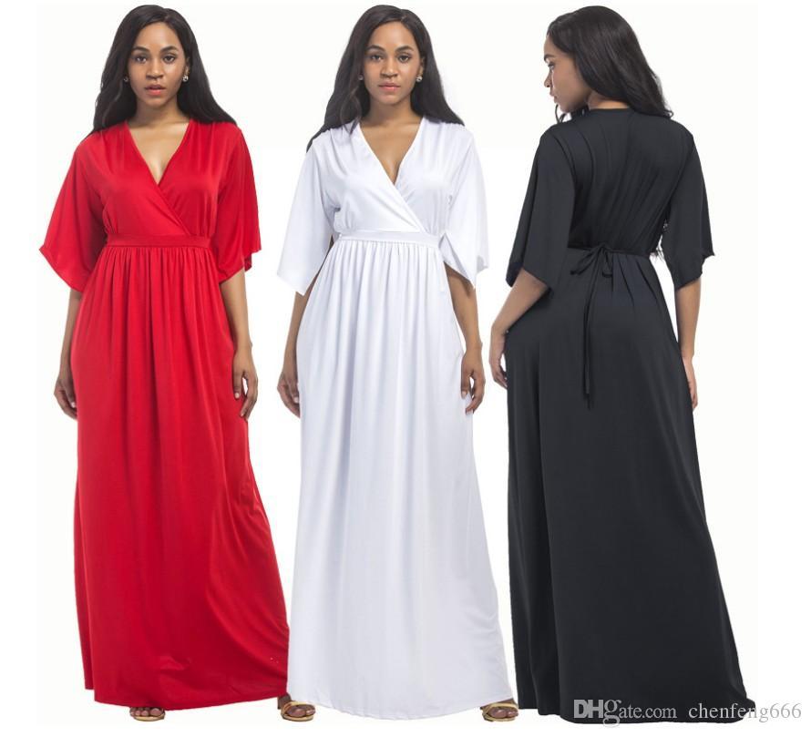 Vestidos de mujer embarazada sexy con 6 colores y 5 tallas y vestidos de mujer grande y gorda