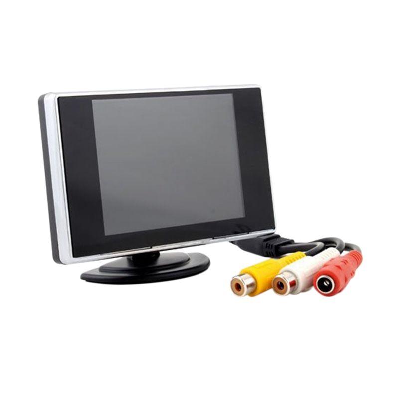 Автомобиль 3,5 дюймовый цветной TFT HD цветной ЖК монитор монитор заднего вида экран NTSC система видеовход автомобильный dvd