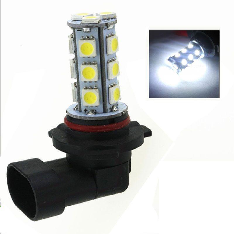 2PCS 9005 18 SMD 5050 LED Fog Light DRL Driving Lamp white Color 12V