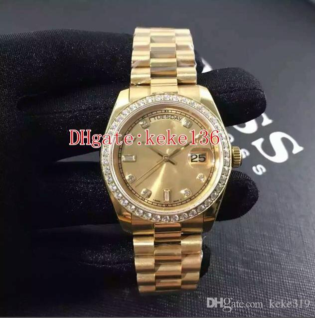 7 색 패션 손목 시계 Datejust 18K 옐로우 골드 36mm 128348RBR 128348 128238 다이아몬드 기계 자동 여성용 여성 시계