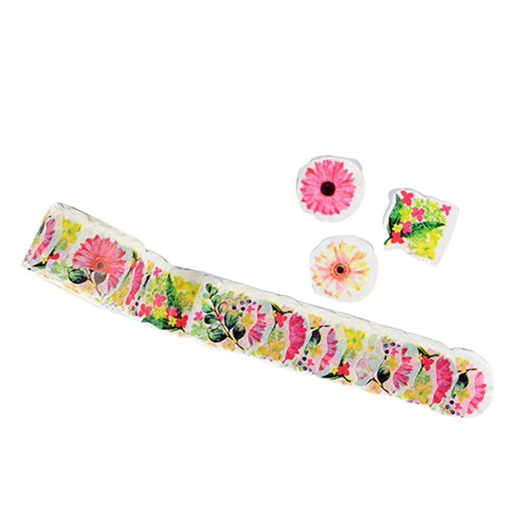 Decorative DIY Crafts Washi Tape Masking Scrapbook Reusable Sticker Sticky Paper Eco Friendly Stationery Flower Petals 2016