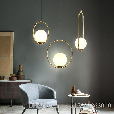 Verre nordique pendentif boule de lumière moderne ronde mondiale de suspension / lampe décorative Pendentif Pendentif d'appareils d'éclairage