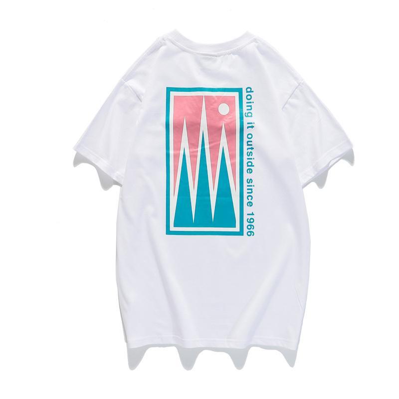 Designer di sport del Mens maglietta casuale fronte di marca di moda T-shirt per Uomo Donna estate respirabile freddo Tee M-2XL